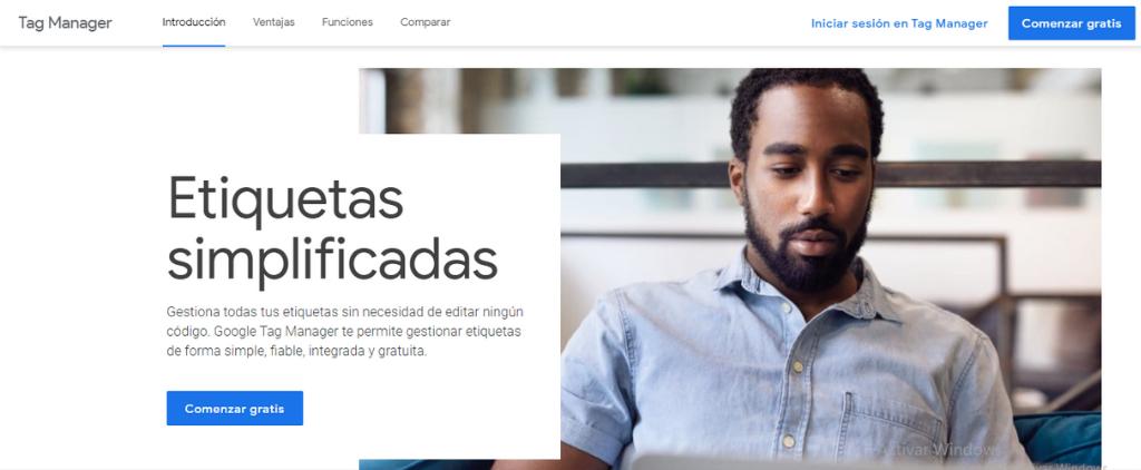 Google tag Manager. analítica web